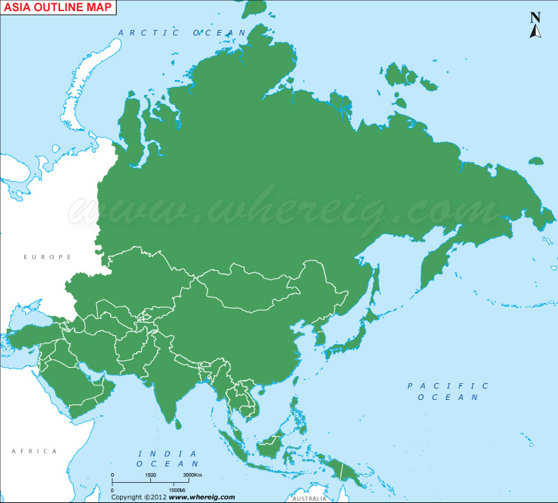 Asia Outline Map Asia Blank Map - Blank map of asia