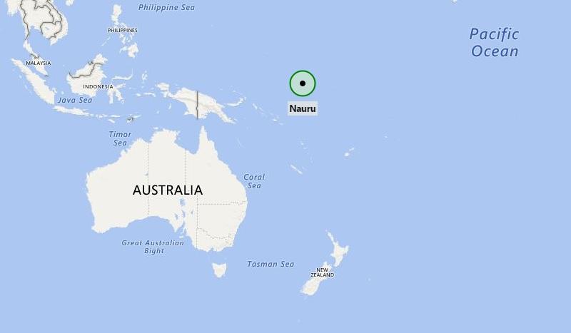 Where is Nauru Where is Nauru Located in the Map