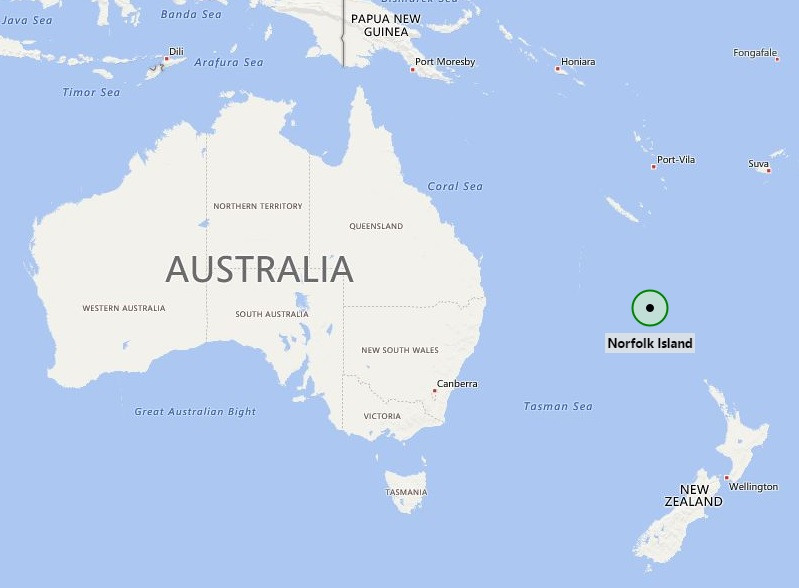 Where is Norfolk Island? | Where is Norfolk Island Located in the Map