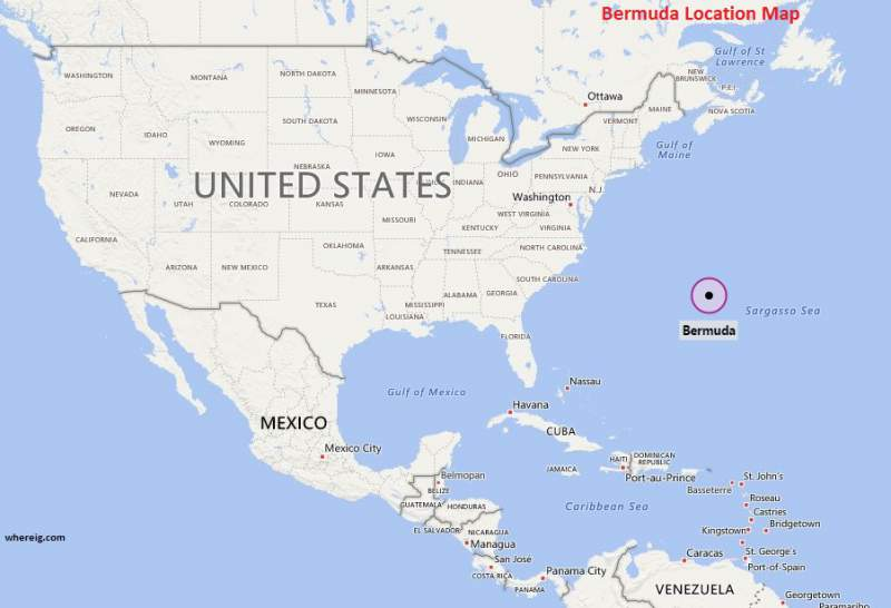 Where Is Bermuda Where Is Bermuda Located In The World Map