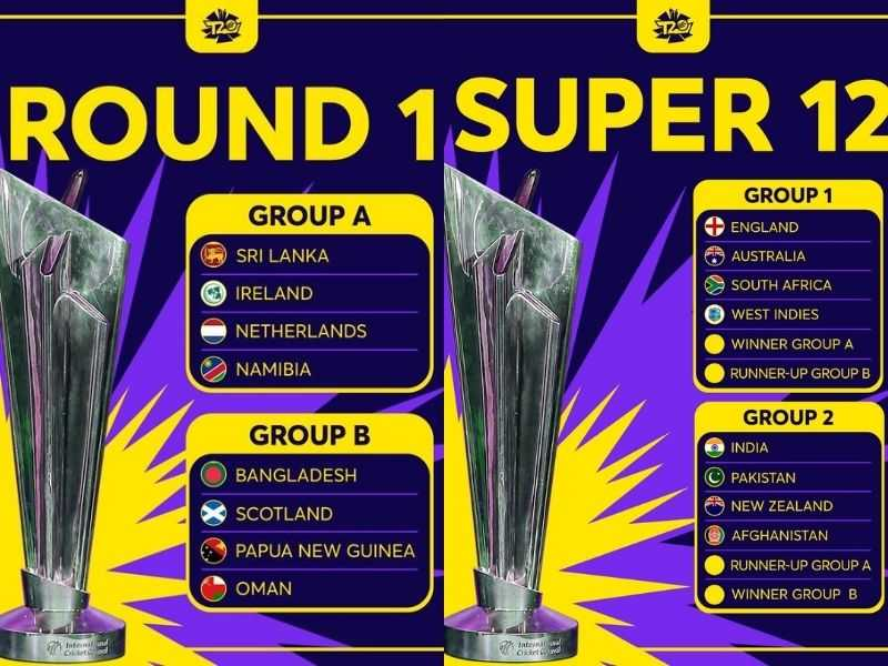 T20 World Cup Group Schedule