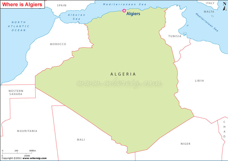 Where Is Algiers Location Map Of Algiers - Where is mali located