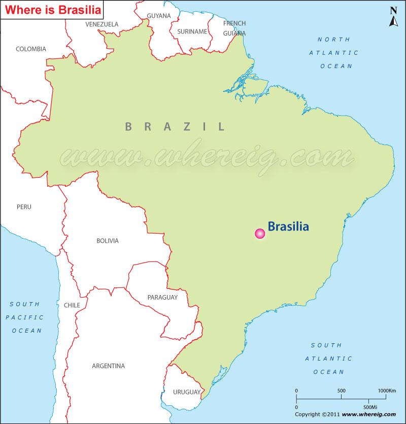 Brasilia Brazil Map Where is Brasilia Located, Brasilia Location in Brazil Map