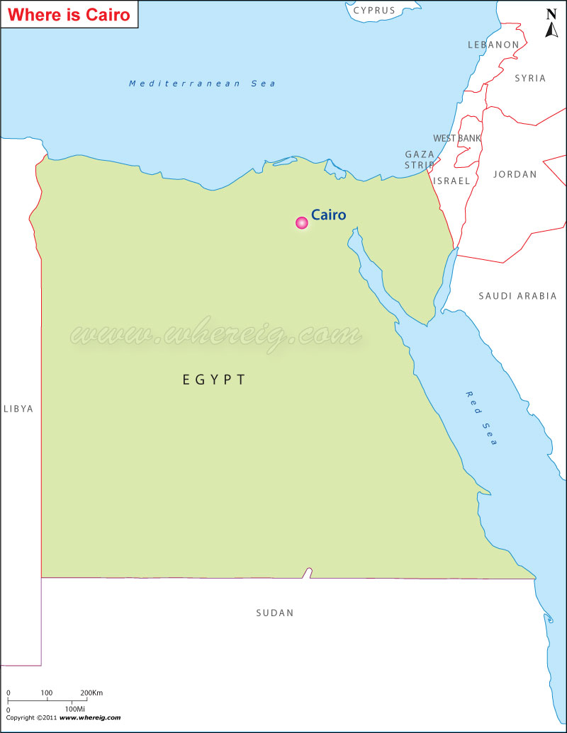 Egypt Location Map