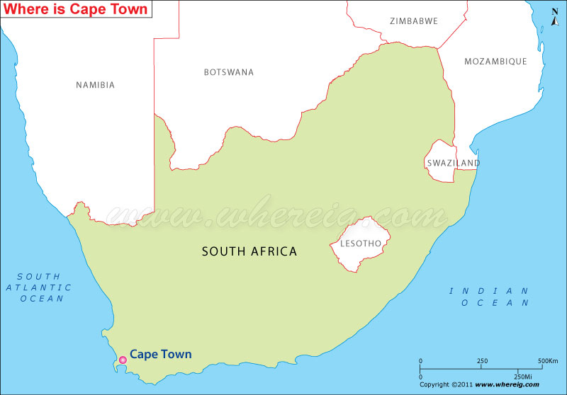 Where is Cape Town Located Location Map of Cape Town
