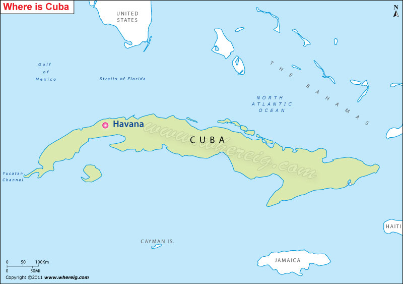 Where is Havana Located Havana Location on Map