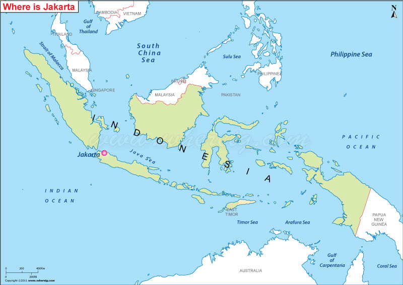 Where Is Jakarta On The World Map Where is Jakarta Located