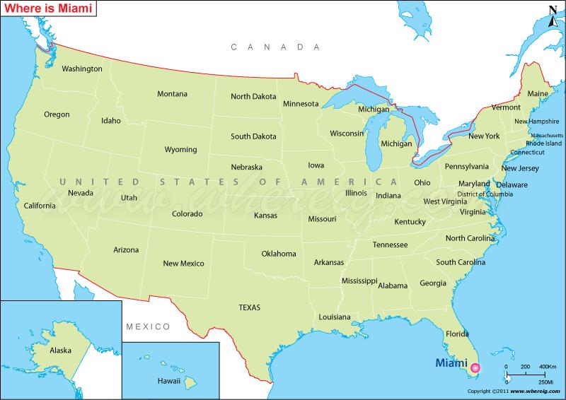 Miami On Map Where is Miami Located, Miami Location in US Map Miami On Map