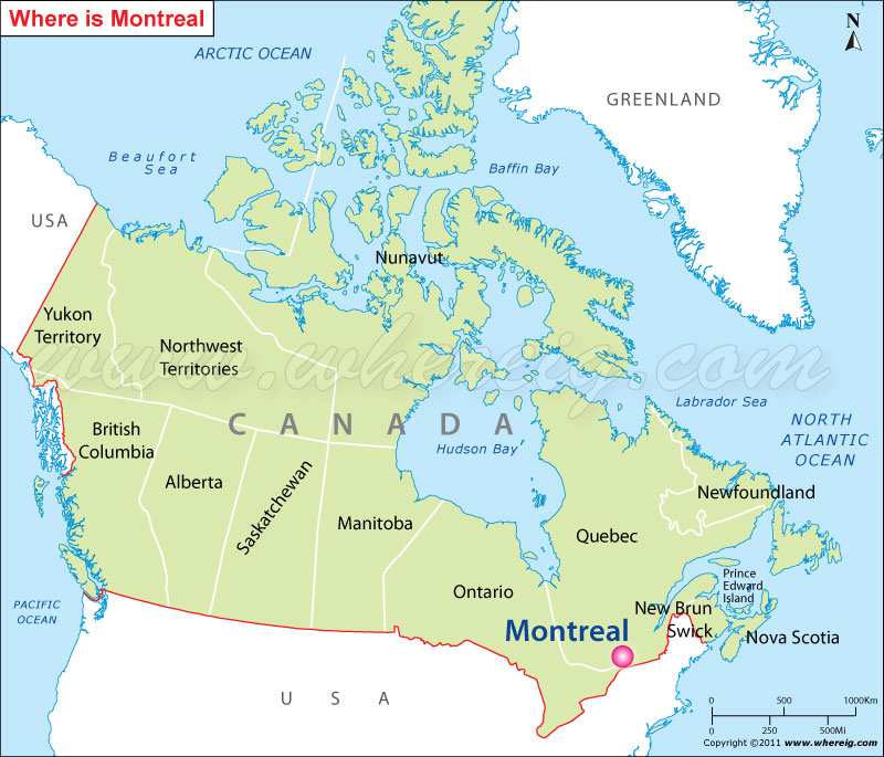 Montreal, Canada Map Where is Montreal Located? Montreal Location in Canada Map