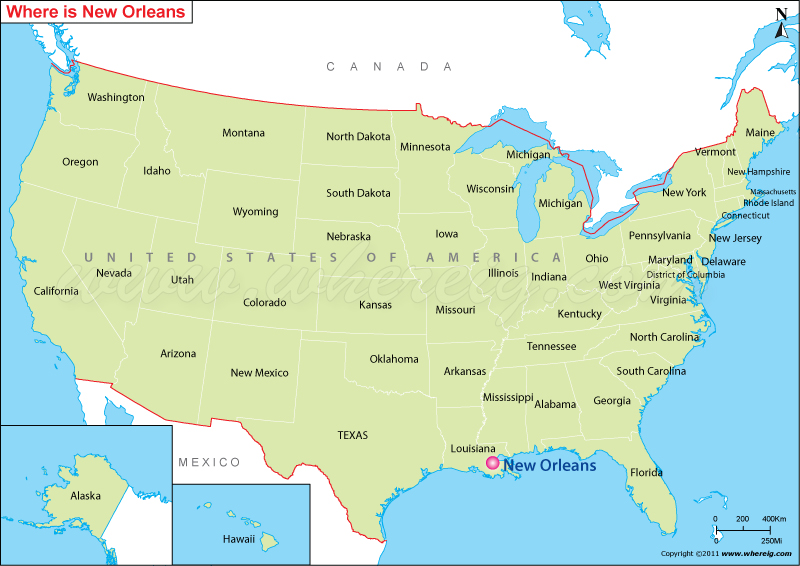 Where Is New Orleans Located New Orleans Location In US Map - New orleans usa map