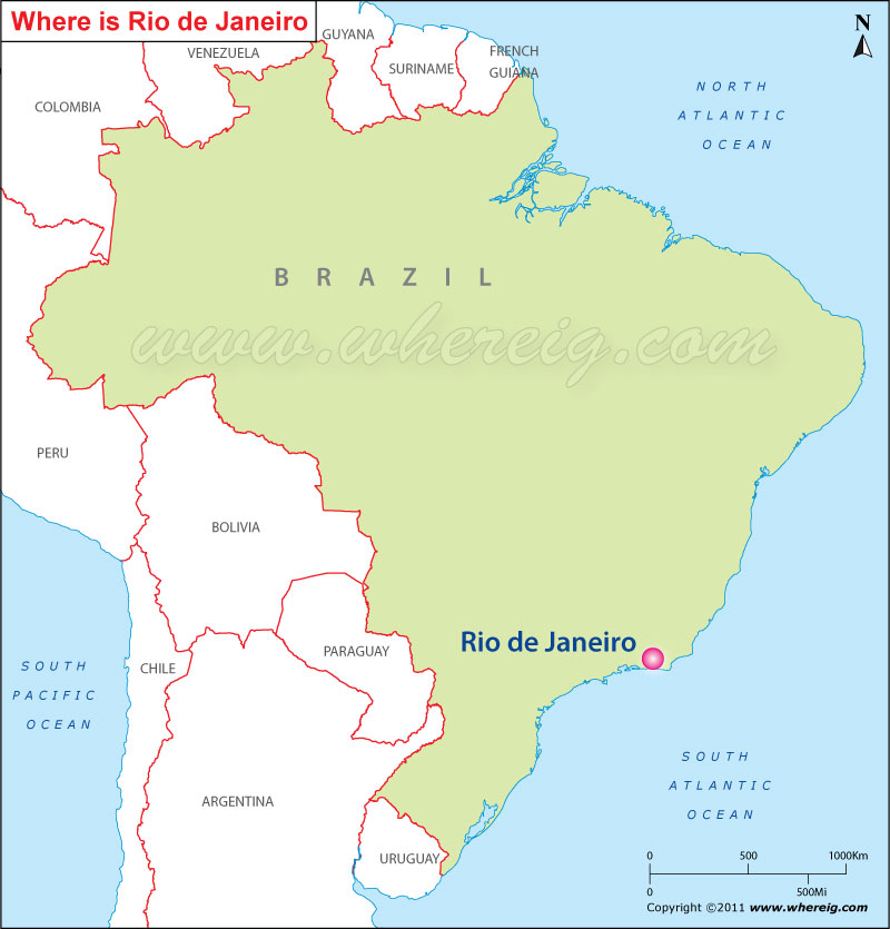 Where is Rio de Janeiro Located Rio Location in Brazil Map