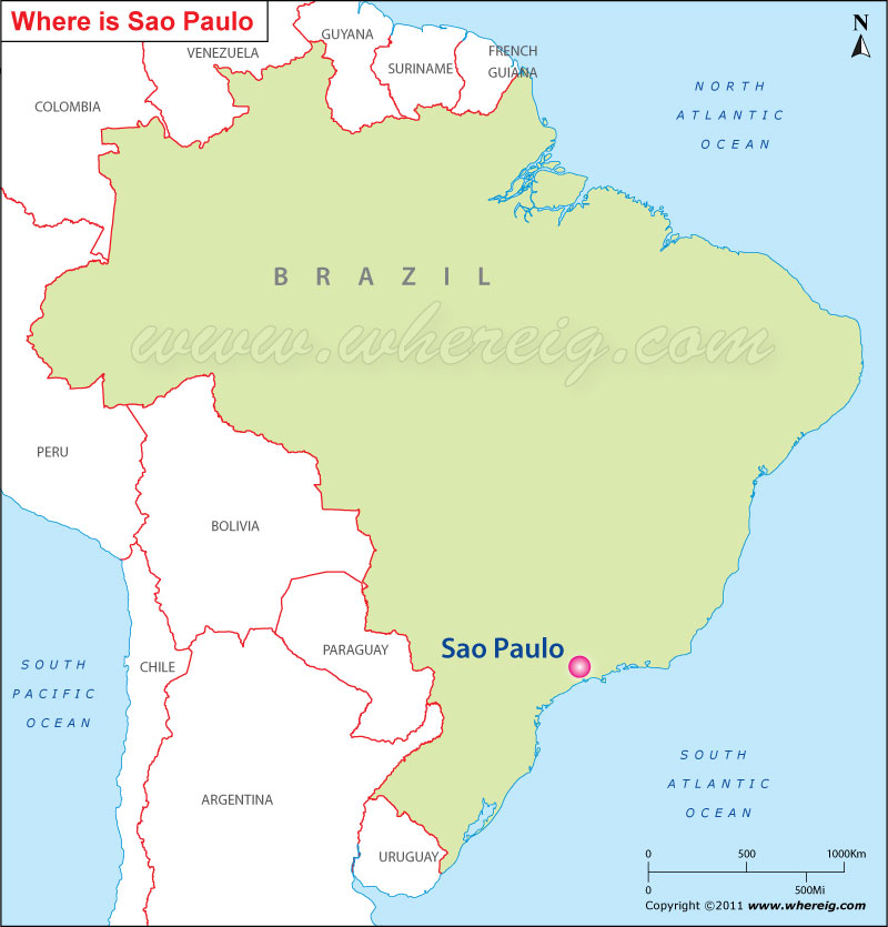 Where is Sao Paulo Located, Sao Paulo Location in Map