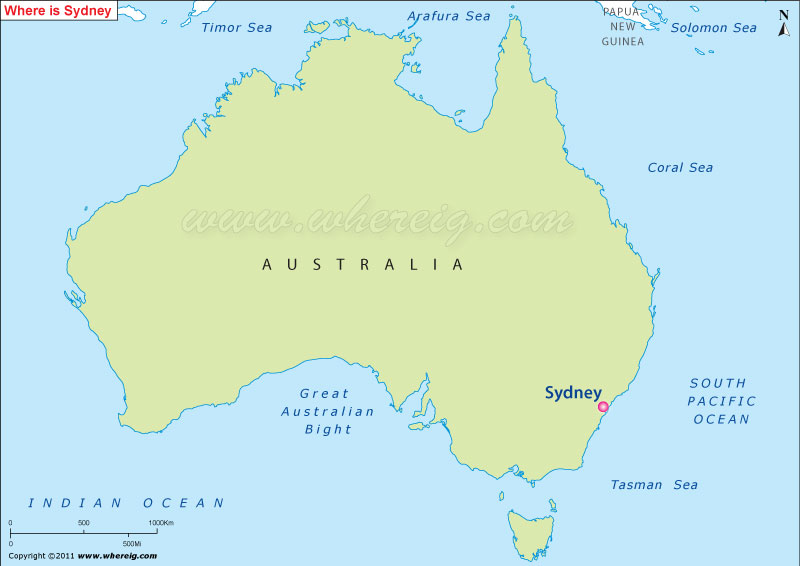 Where is Sydney Australia Where is Sydney Location on the Map