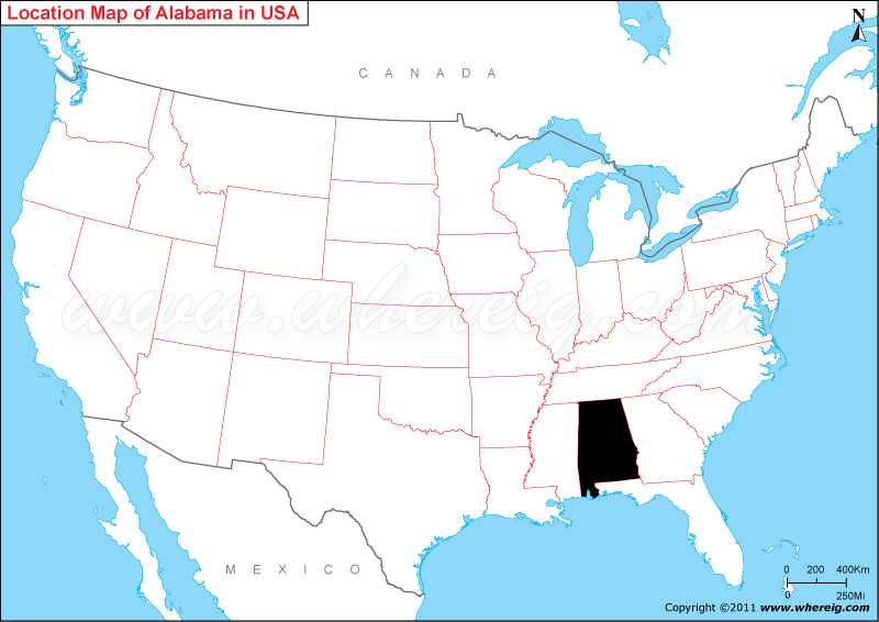 Where Is Alabama Located On The Us Map Where is Alabama State? / Where is Location of Alabama in US Map