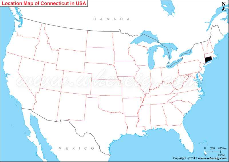 Where is Connecticut State Where is Connecticut Located in the US Map