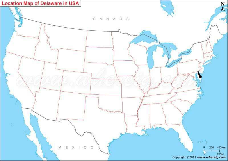 Where Is Delaware State Located In The Us Map: Delaware Map Usa At Codeve.org