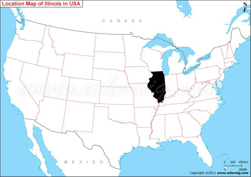 Where Is Illinois On The Us Map Where is Illinois State? / Where is Illinois Located in the US Map