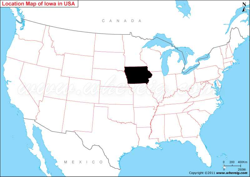 Where Is Iowa On The Map Where is Iowa State? / Where is Iowa Located in the US Map Where Is Iowa On The Map