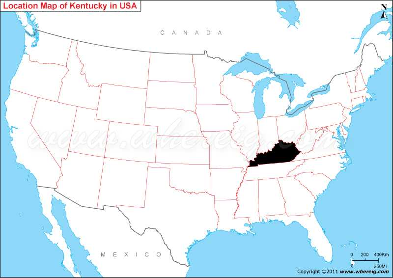 Kentucky On The Map Where is Kentucky State? / Where is Kentucky Located in the US Map Kentucky On The Map