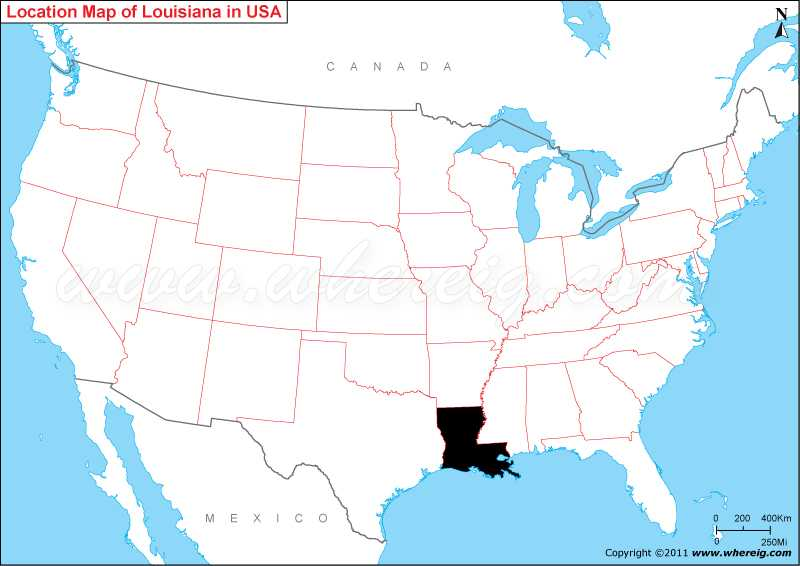 Where Is Louisiana State Where Is Louisiana Located In The US Map - Indiana on us map