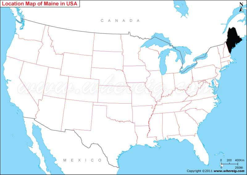 State Map Of Maine.Where Is Maine State Where Is Maine Located In The Us Map