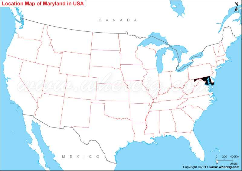 Maryland On The Us Map Where is Maryland State? / Where is Maryland Located in the US Map