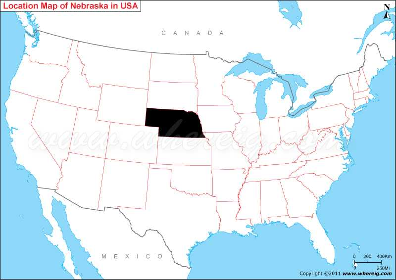 Where Is Nebraska State Where Is Nebraska Located In The US Map - Nebraska on a us map