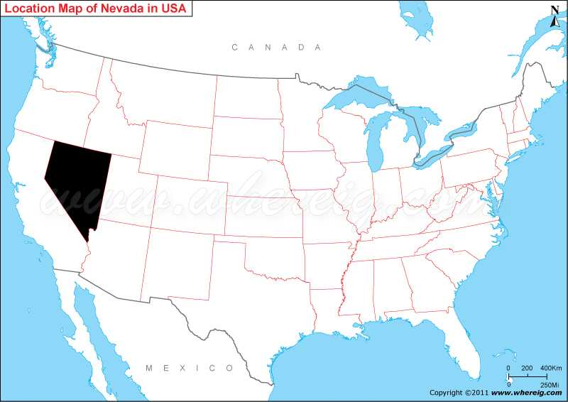 Where Is Nevada State Where Is Nevada Located In The US Map - Nevada in us map