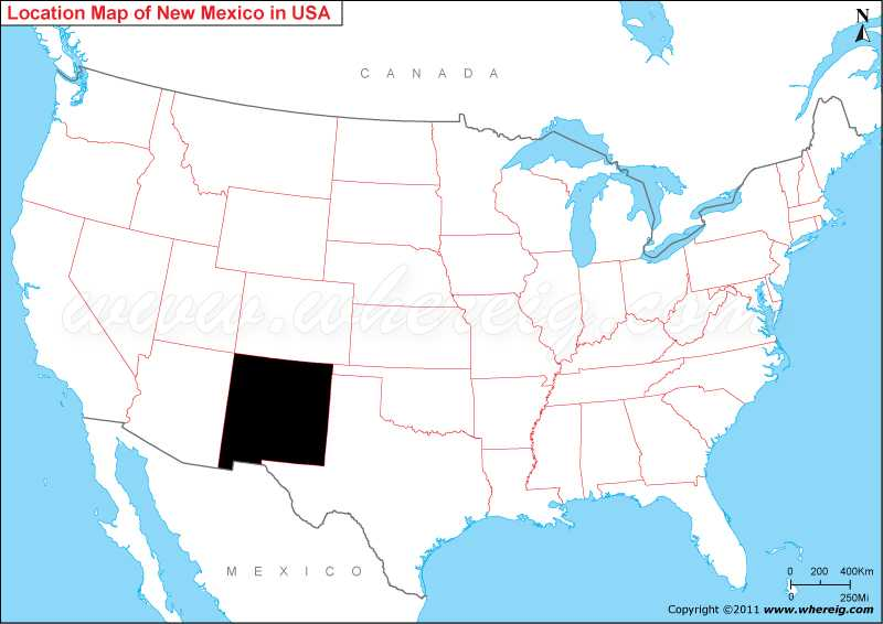 Where Is New Mexico State Where Is Mexico Located In The US Map - Us mexico map