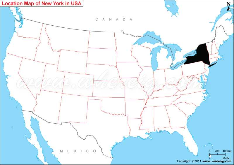 New York City United States And Canada Map Where is New York State? / Where is New York Located in the US Map