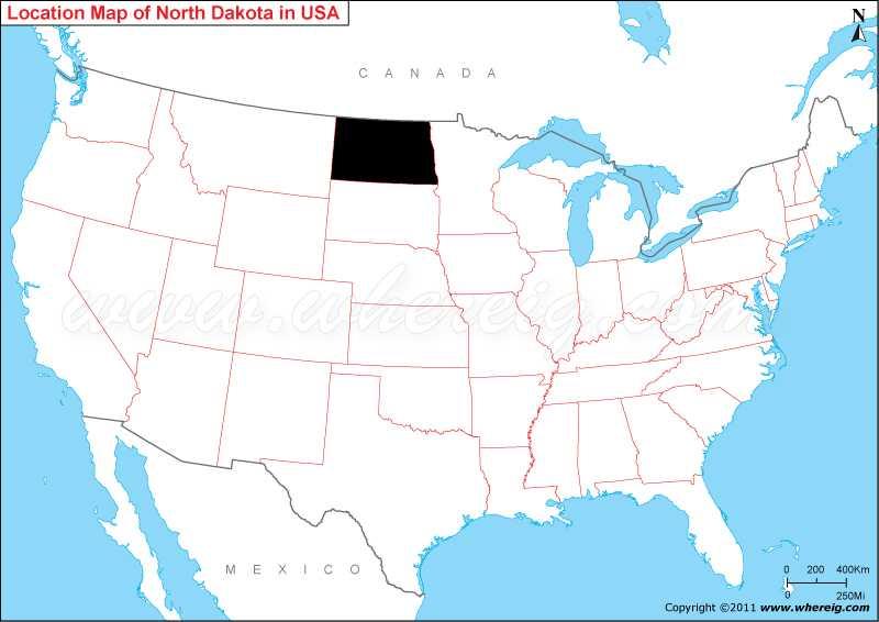 Where is North Dakota