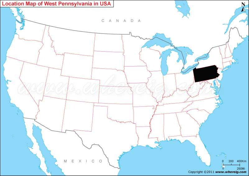 Where Is Pennsylvania State Where Is Pennsylvania Located In - Map of us pennsylvania