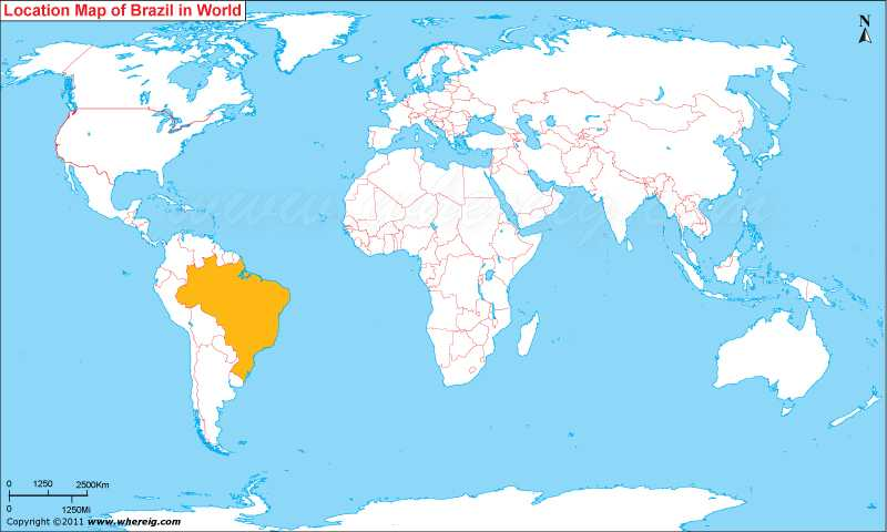 Brazil On World Map Where is Brazil? / Where is Brazil Located in The World Map