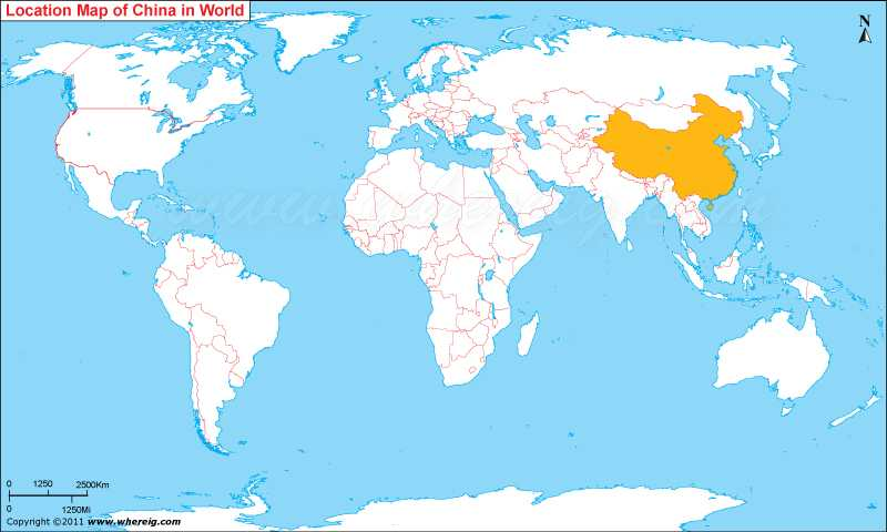 Where is China Located, China Location in World Map