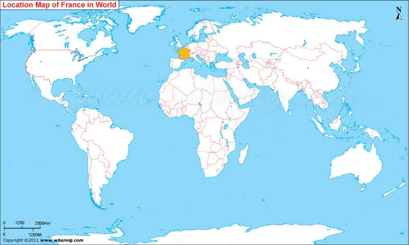 Where Is France On The Map Where is France Located (in French, Ou est la France)