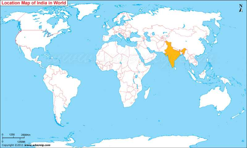 Where Is India Located On A Map Where is India Located, India Location in World Map