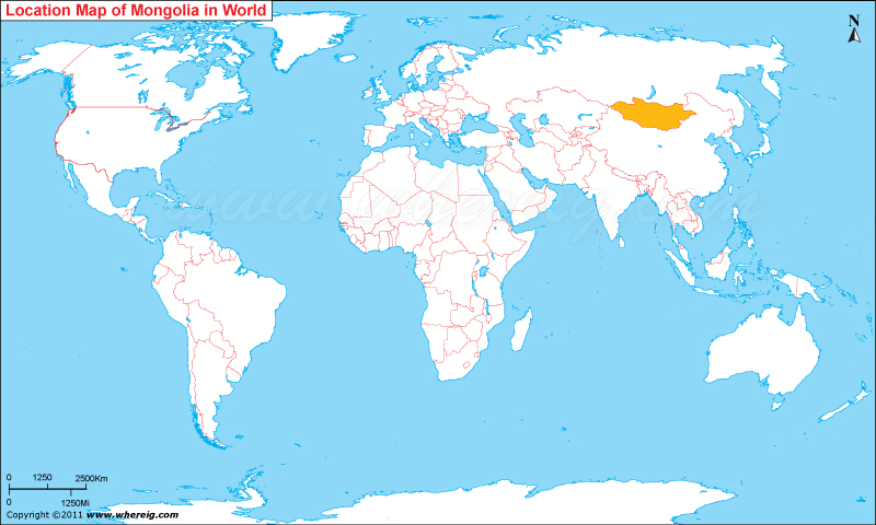 Where Is Mongolia On A Map Where is Mongolia Located, Mongolia Location in World Map