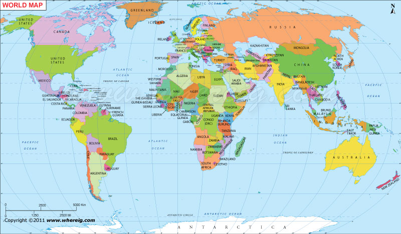 World Map Map Of The World World Map With Countries