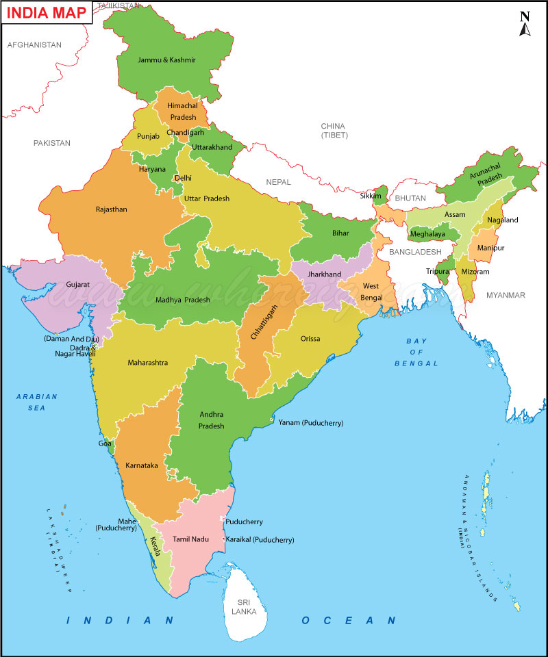 se map of india india image collections