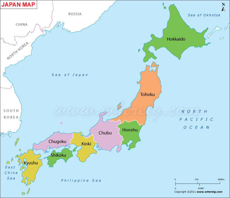 Japan Map Map Of Japan Japan Prefecture Map - Japan map of cities