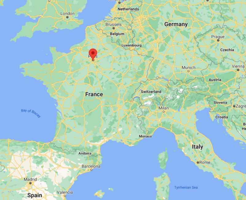 2024 Paris Olympics Host City Map