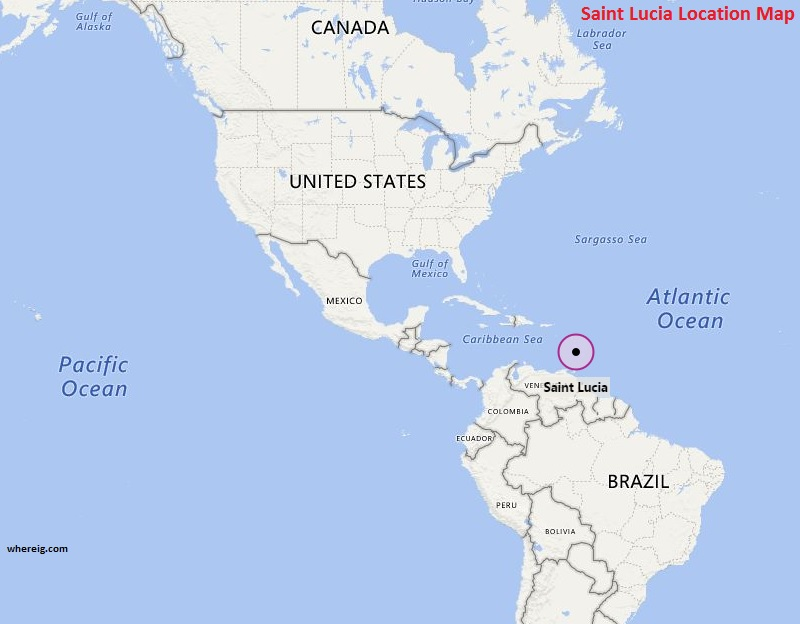 saint lucia location on world map Where Is Saint Lucia Where Is Saint Lucia Located In The World Map