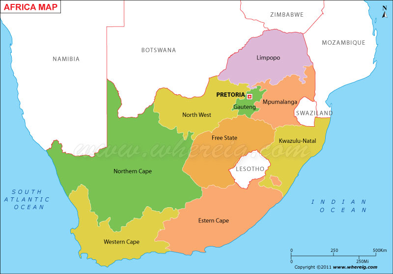 Map South Africa States South Africa Map, Map of South Africa, South Provinces Map