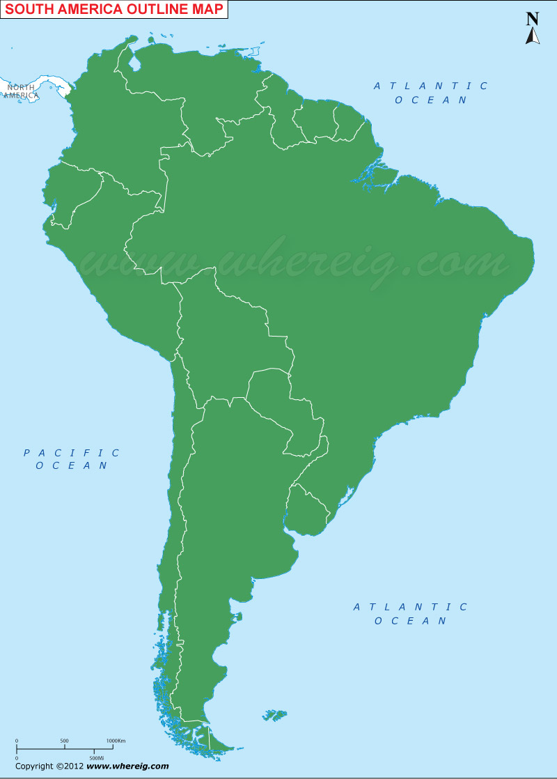 South America Outline Map South America Blank Map - Colored outline map of ecuador