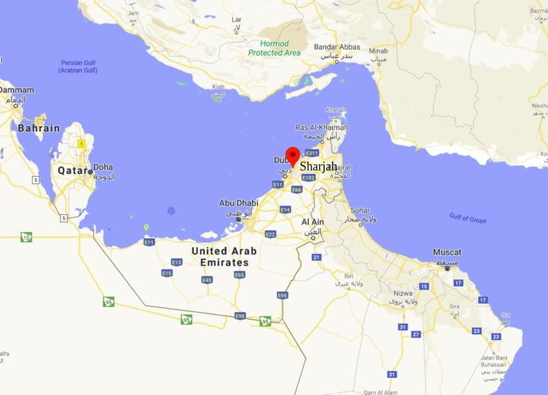 Where is Sharjah, UAE