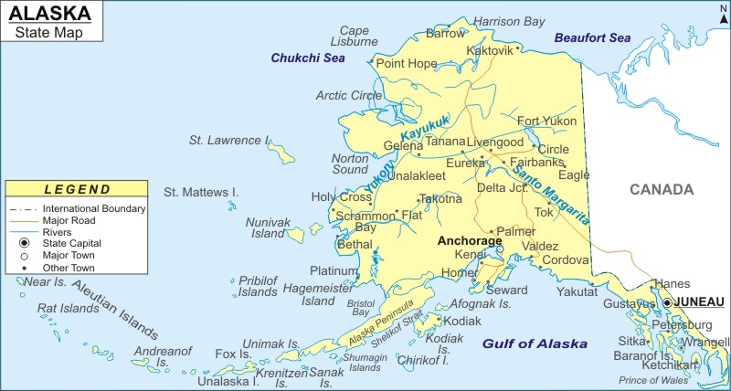 Alaska Map Map Of Alaska With Cities Road River Highways