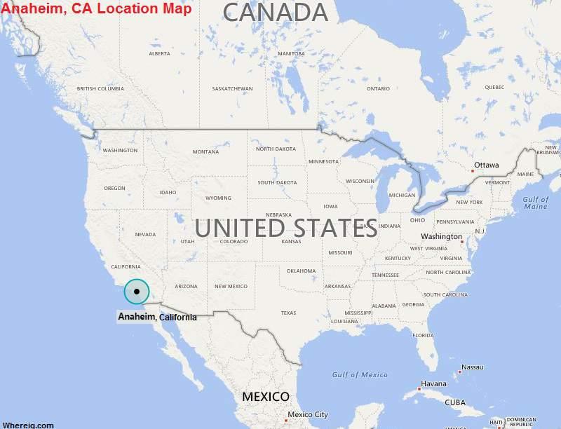 Where is Anaheim, California