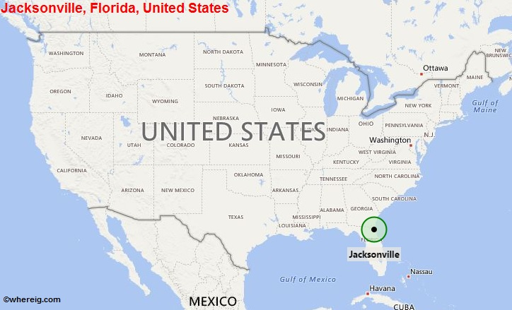 Florida On Usa Map.Where Is Jacksonville Fl Where Is Jacksonville Fl Located In