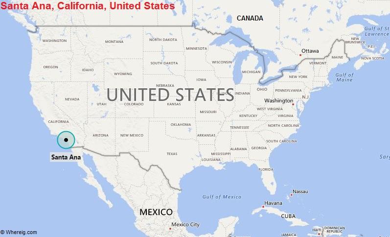 Where is Santa Ana, California