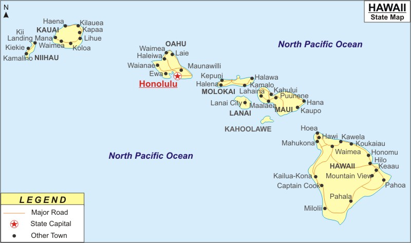 Hawaii Map Map Of Hawaii With Cities Road River Highways